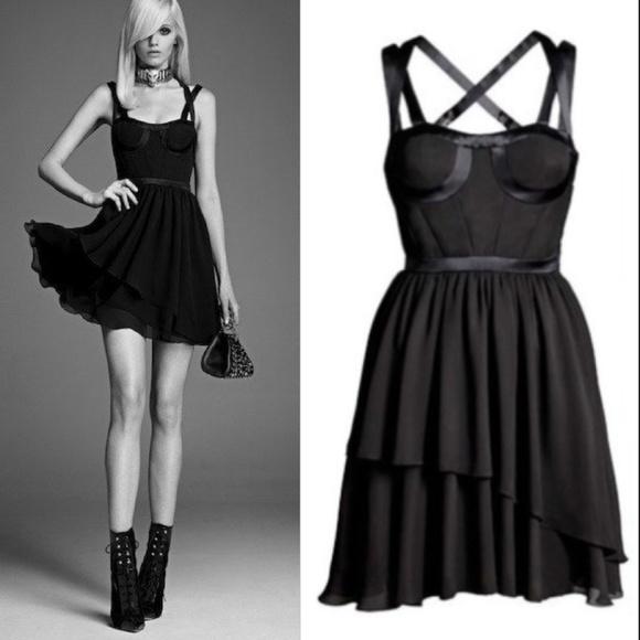 143addc4ca0 NWT Versace H M silk bustier corset strappy dress